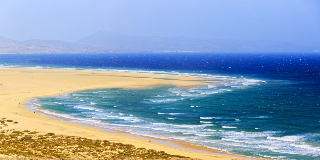 Sotavento Beach in Fuerteventura, Canary Islands, Spain