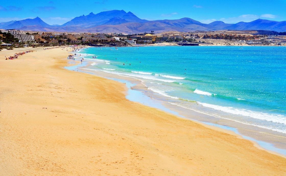 'view of Playa Esmeralda in Fuerteventura, Canary Islands, Spain' - Fuerteventura